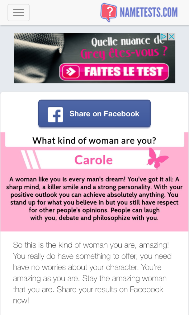 What Kind of Woman are You